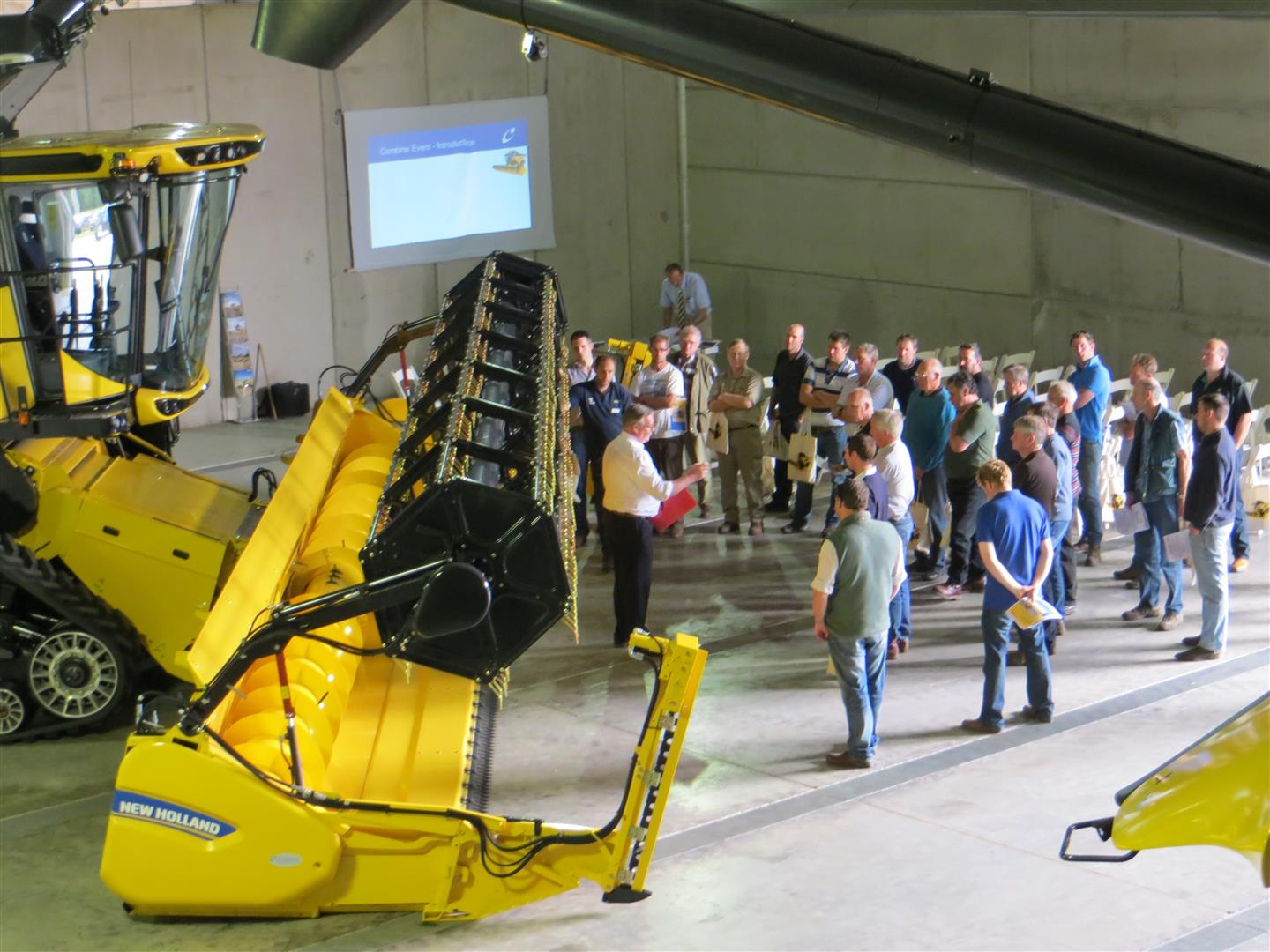 C&O Tractors Combine Harvester training and presentation - June 2016.