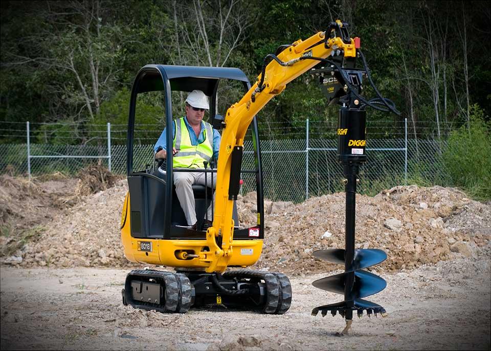 Digga auger - Attachments at C&O Construction