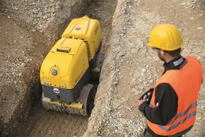 Rollers at C&O Construction - Wacker Neuson trench roller RTSC3