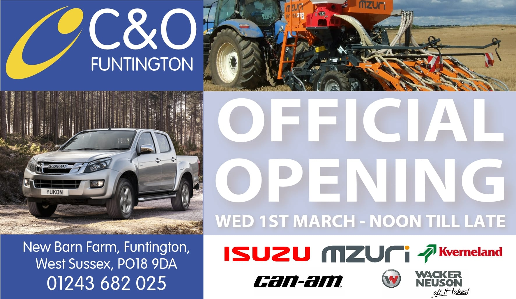 Official Opening C&O Funtington - Advert