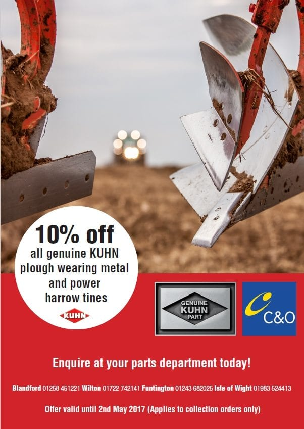 10% off genuine Kuhn plough metal and power harrow tines