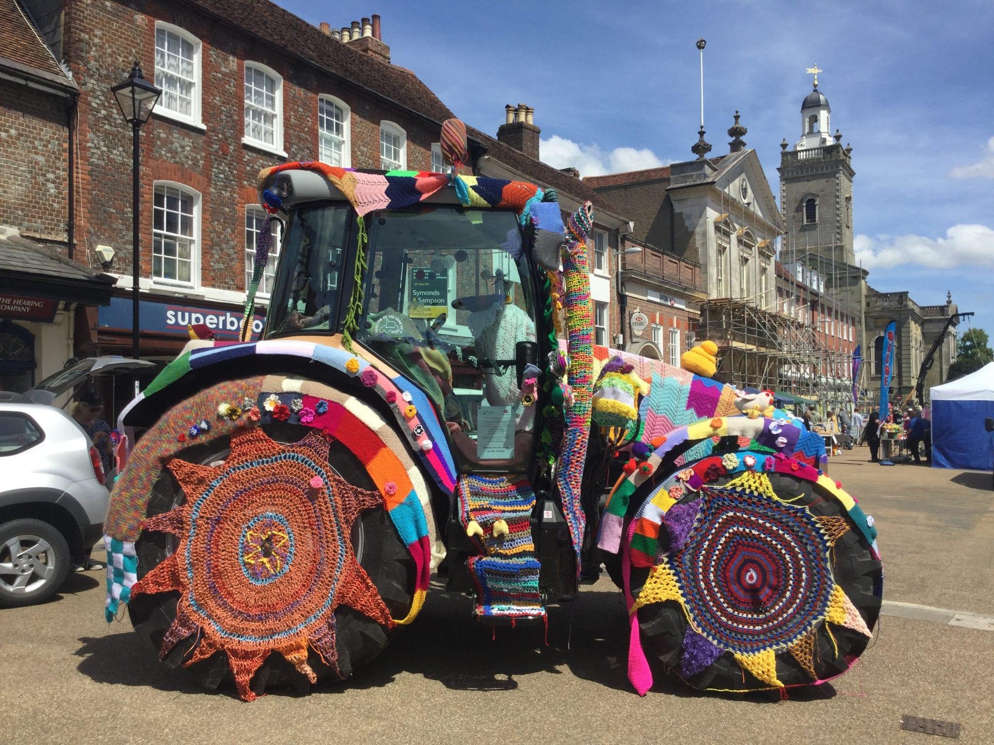 Yarn Bombed Tractor
