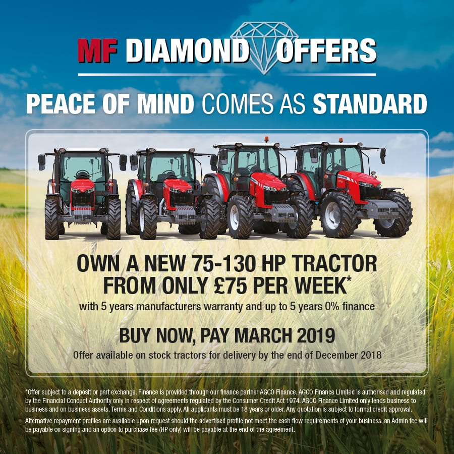 Diamond Offer on Massey Ferguson 75-130 HP Tractors
