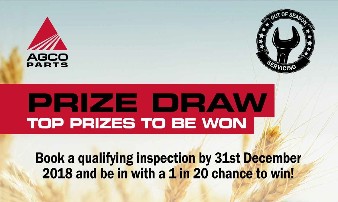 AGCO Prize Draw with Out of Season inspections - Nov 18