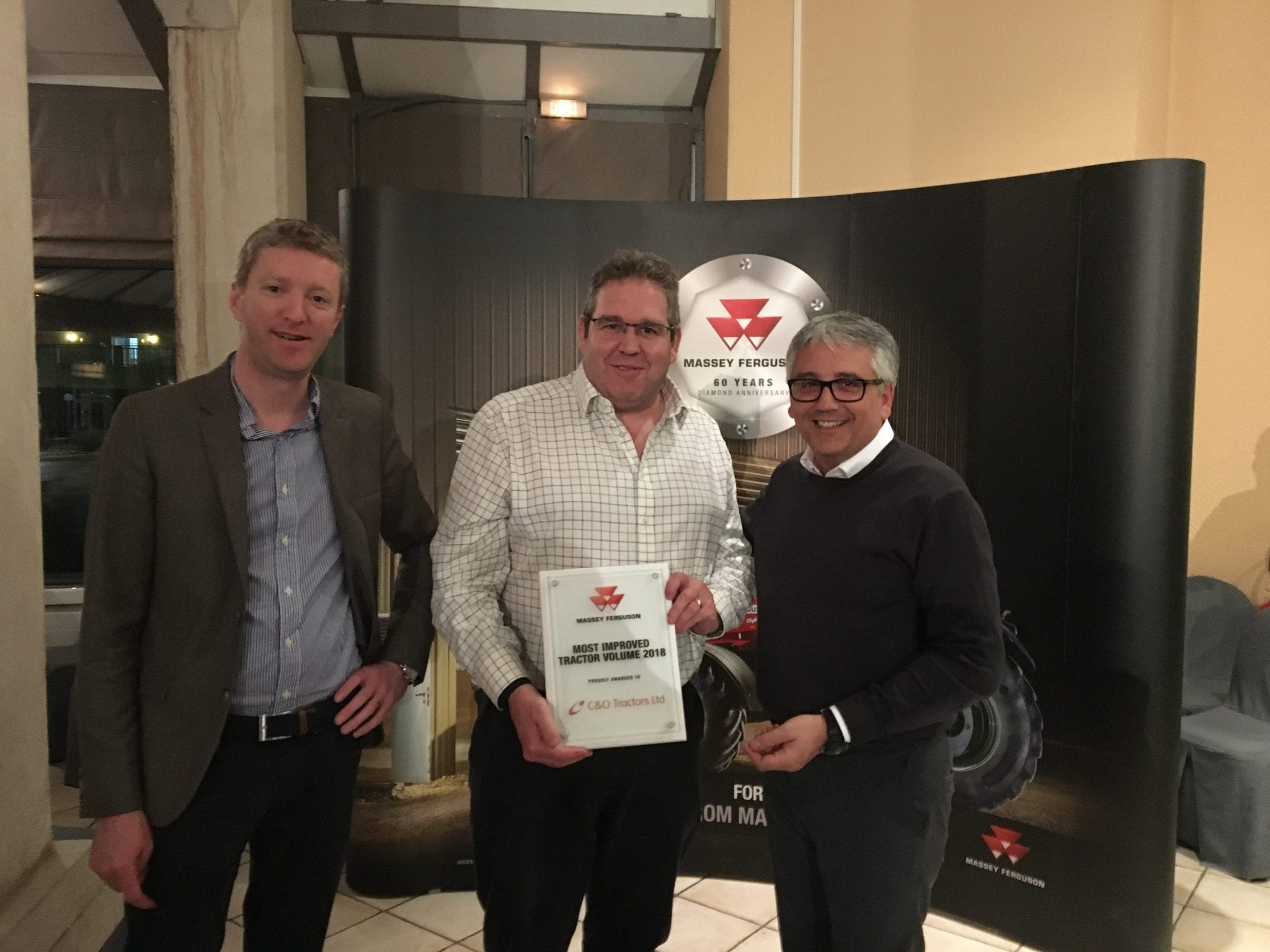 C&O receive Massey Ferguson award for Most Improved Tractor Sales