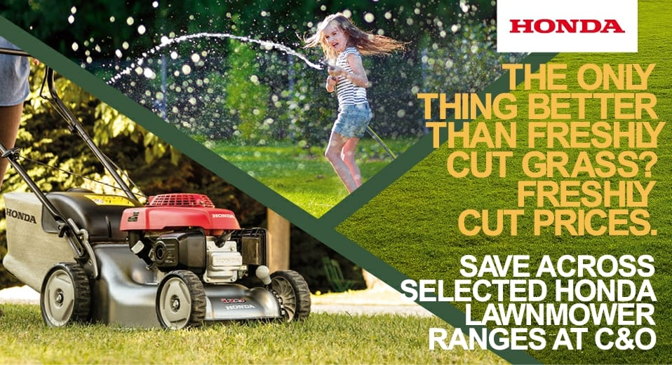Savings on Honda mowers at C&O