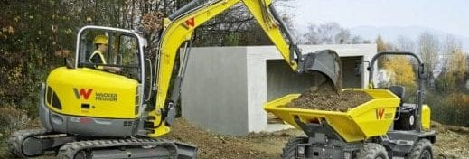 Wacker Neuson excavator and dumper