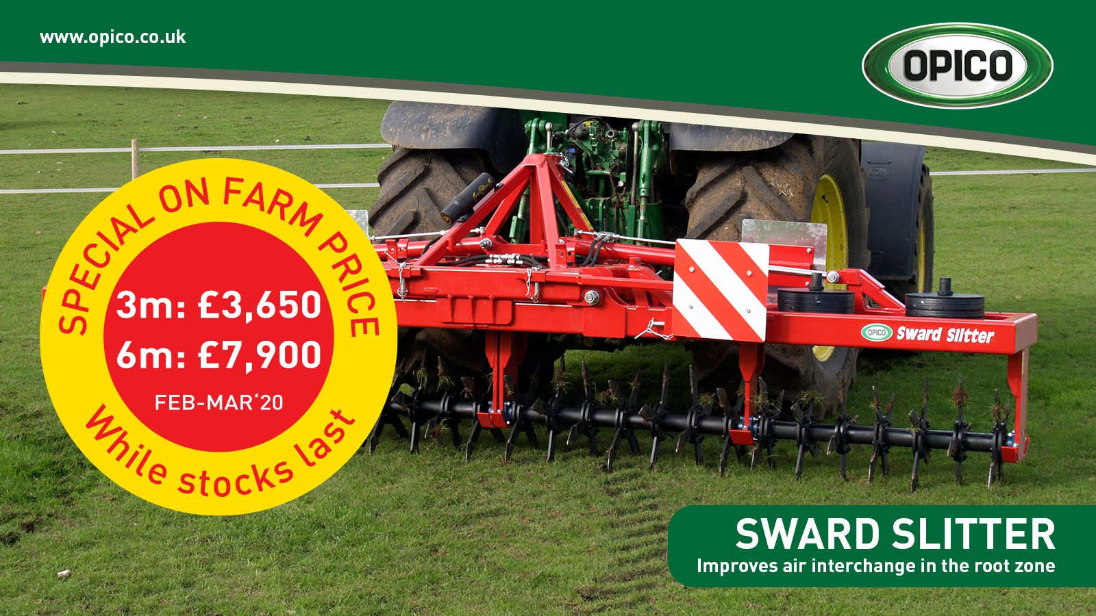 Opico Sward Slitter Special on Farm Price